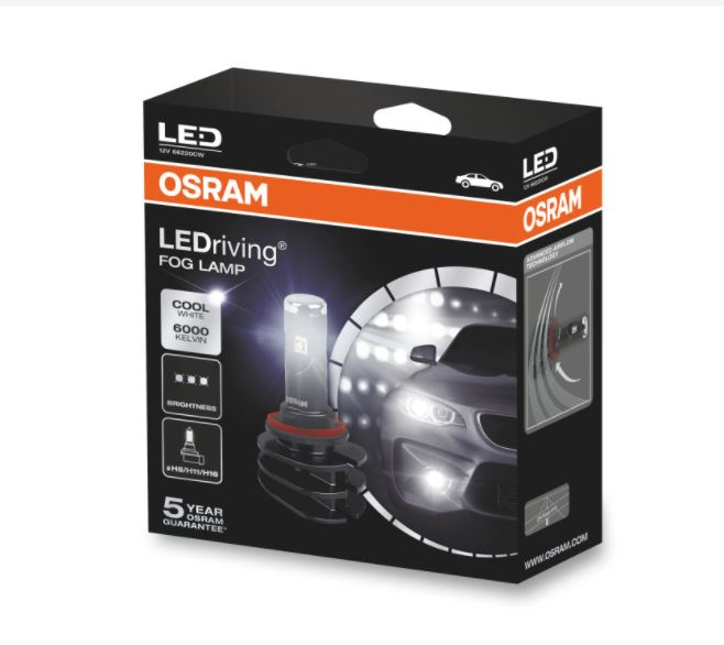 osram ledriving fog lamp h8 h11 h16 66220cw 13w 12v. Black Bedroom Furniture Sets. Home Design Ideas