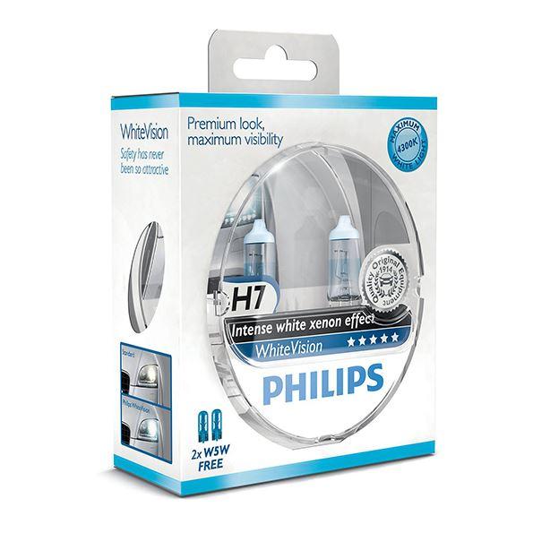 philips white vision h7 2 w5w lemput s ma iausia kaina. Black Bedroom Furniture Sets. Home Design Ideas