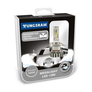Megalight +200 H4 LED lempučių rinkinys (2vnt.)