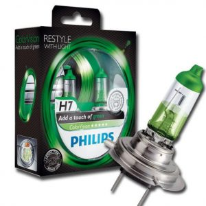 Philips-H7-Color-Vision-Green