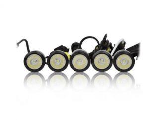 LED DRL dienos šviesos žibintai 825HP BLACK