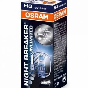 night breaker unlimited h3, halogenines lemputes, osram lemputes, philips lemputes, lemputes automobiliams, H3 lemputės