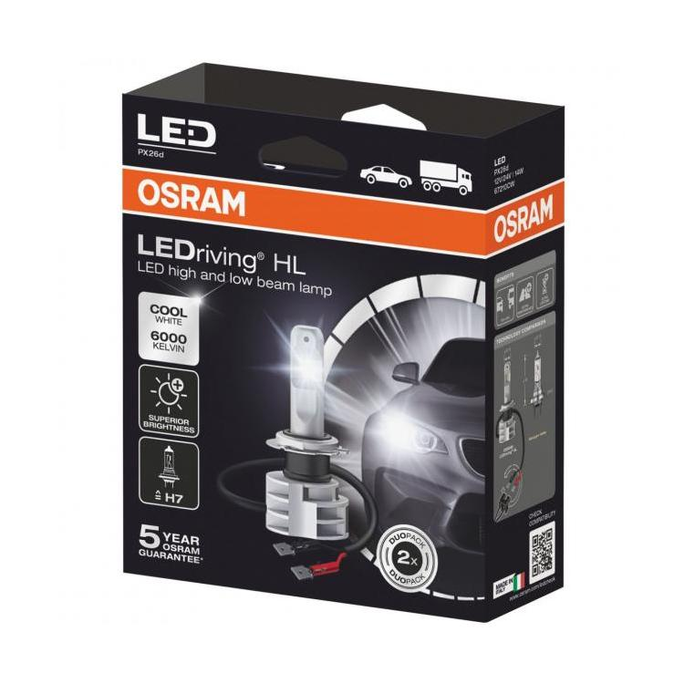 Lampade A Led Per Garage.Osram H7 Ledriving Hl Next Generation Led H7 Twin