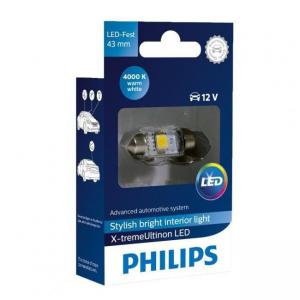 Philips LED C5W X-treme Vision 4000K 43mm