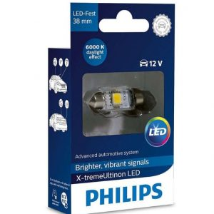 Philips LED C5W X-treme Vision 6000K 38mm