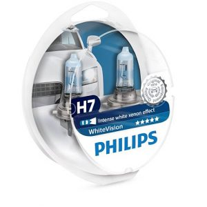 Philips White Vision H7 +2 W5W