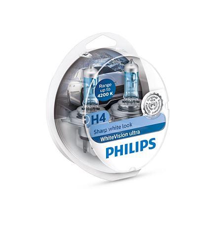 philips white vision ultra h4 2 w5w ma iausia kaina. Black Bedroom Furniture Sets. Home Design Ideas