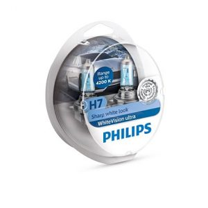 Philips White Vision Ultra H7+2 W5W